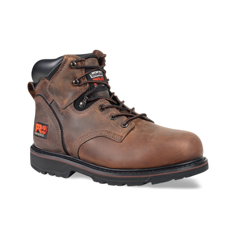"Timberland PRO® Pit Boss #33034 Men's 6"" Durable Slip Resistant Steel Safety Toe Work Boot"