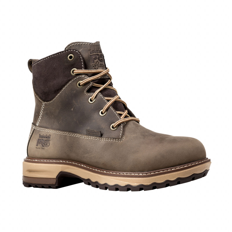 "Timberland PRO® Hightower #A1KIT Women's 6"" Brown Waterproof Alloy Toe"